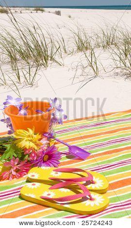 Romantic scene on pretty beach