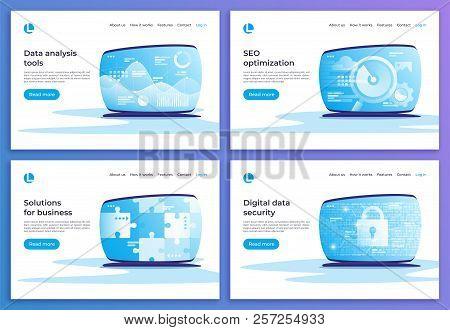 Data Analysis, Seo Optimization, Business Solutions, Digital Sec