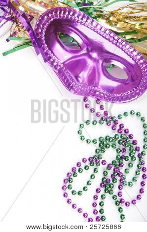 Masquarade party supplies with copyspace