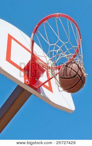 basketball goal under blue sky