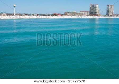 Pensacola Beach as viewed by the ocean