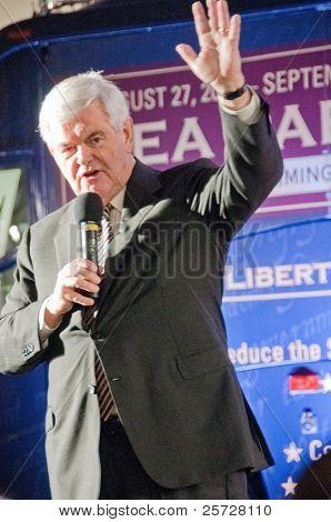 12. September Tampa: Republikaner Newt Gingrich Adressen Unterstützer nach dem Cnn/Tee-Teil
