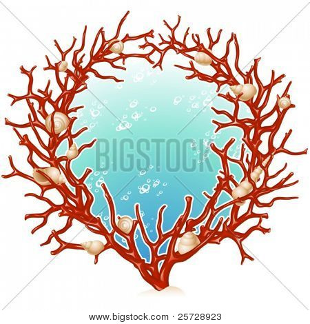 Red coral frame