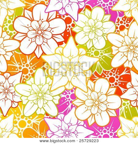 Vector flower seamless background