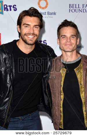 LOS ANGELES - NOV 20:  Peter Porte, Greg Rikaart arrives at the P.S Arts 2011