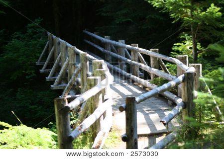 Split Rail Foot Bridge