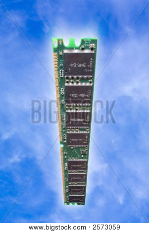 Computer Dimm In Sky With Glow