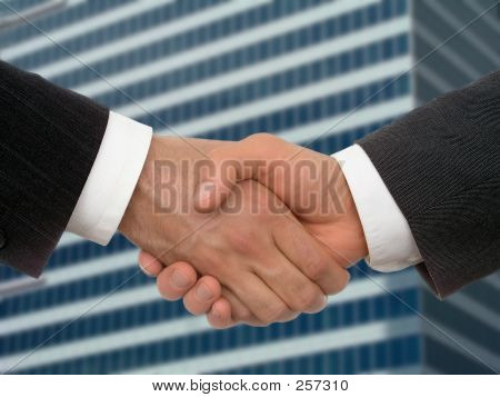 business handshake poster