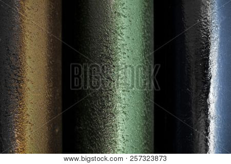 Metallic Pipes Texture Industrial And Grunge Background
