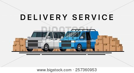 Cargo Transportation. Delivery Service. Express Delivery By Car. Trucking By Car. Service Of Deliver