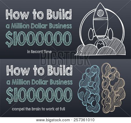 The Launch. How To Start A Business. How To Start A Successful Business. Vector Illustration Eps10 F