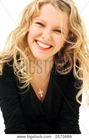 Beauty Laughing Blonde