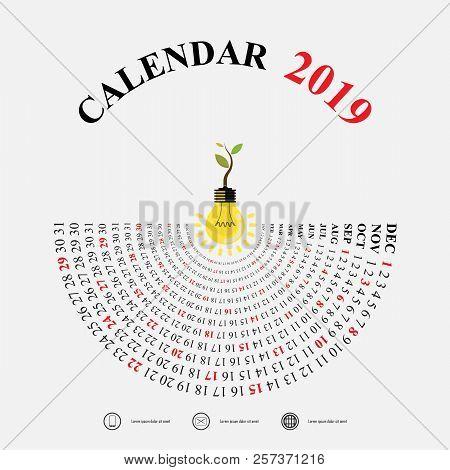 2019 calendar vector photo free trial bigstock