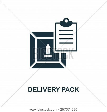 Delivery Pack Icon. Monochrome Style Design From Logistics Delivery Icon Collection. Ui. Pixel Perfe