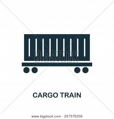 Cargo Train Icon. Monochrome Style Design From Logistics Delivery Icon Collection. Ui. Pixel Perfect