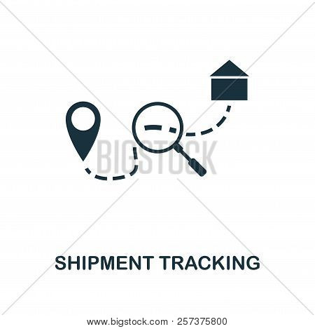 Shipment Tracking Icon. Monochrome Style Design From Logistics Delivery Icon Collection. Ui. Pixel P