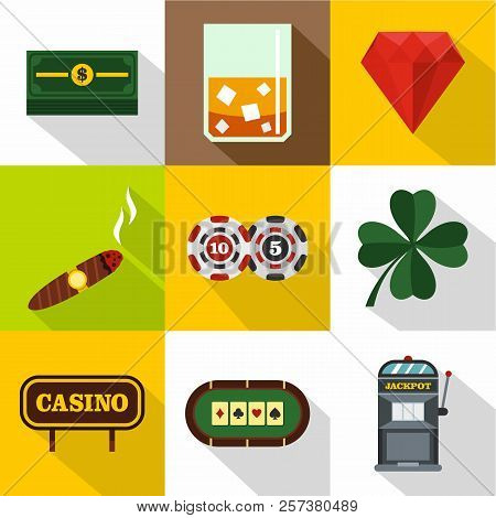 Win Icons Set. Flat Illustration Of 9 Win Icons For Web