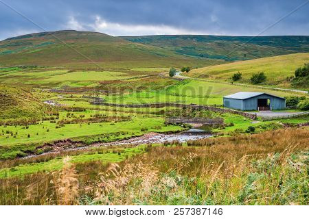 River Rede Falls From The Cheviot Hills, And Emerges From Whitelee Moor West Of Carter Bar In The Ch