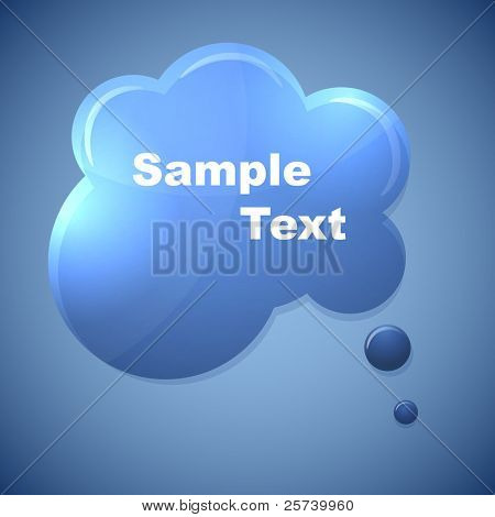 Abstract blue speech bubble with copy space. poster