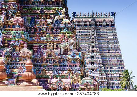 The Sri Ranganathaswamy Temple Or Thiruvarangam Is A Hindu Temple Dedicated To Ranganatha, A Reclini