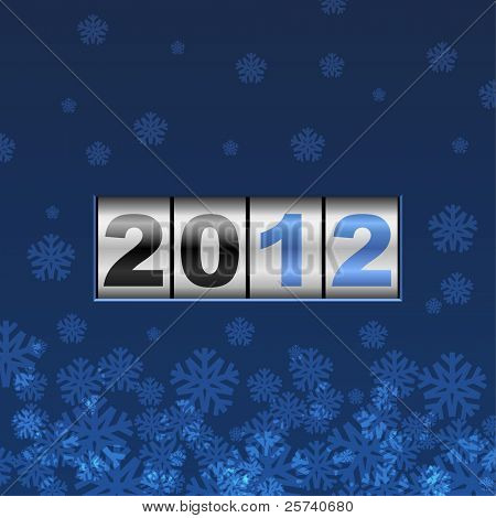 Blue counter 2012 new year card.