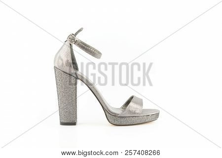 e1577ff271f Woman High Heel Stiletto Shoe White Isolated Background
