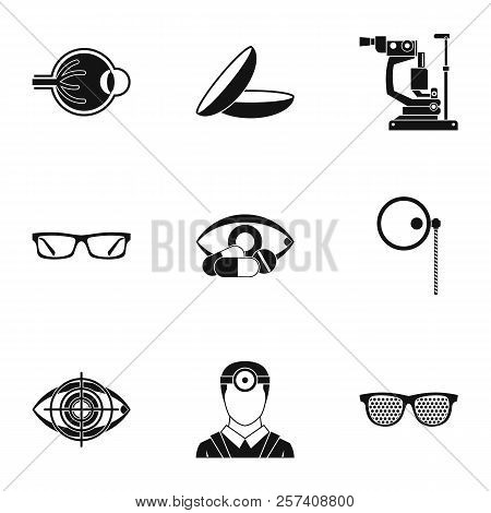 Vision Icons Set. Simple Illustration Of 9 Vision Icons For Web
