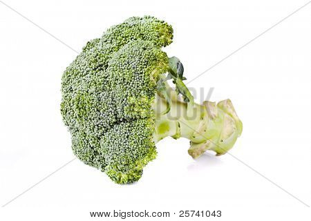 fresh healthy broccolli on white background