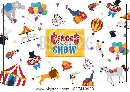 Flat Circus Colorful Vector & Photo (Free Trial) | Bigstock