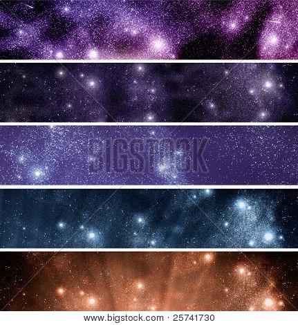 空间: 辉煌星字段。横幅集