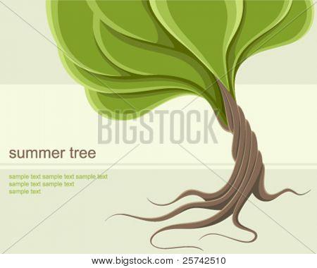 Stylized summer tree background