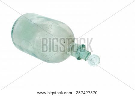 Apothecary Bottle With Glass Ground Stopper. Isolated On White Background, With Clipping Path