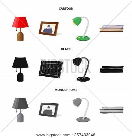 Vector Design Of Dreams And Night Sign. Set Of Dreams And Bedroom Stock Symbol For Web.