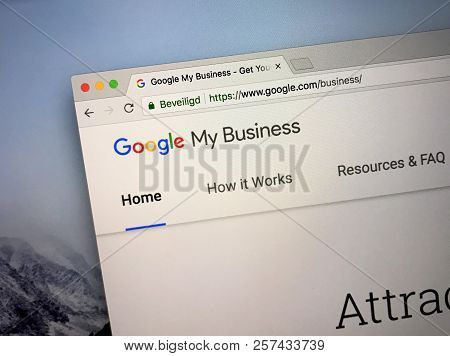 Amsterdam, The Netherlands - September 9, 2018: Website Of Google My Business, A Tool For Businesses