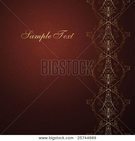 abstract luxury background with golden seamless border and a copy space