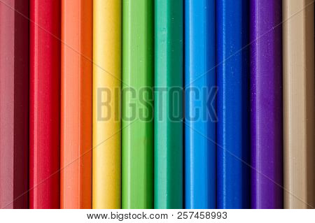 Colorful Pencils Set As Texture And Background