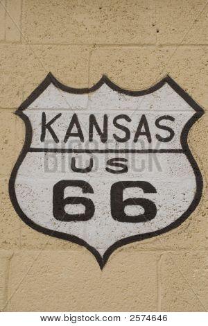 Kansas Route 66 Sign