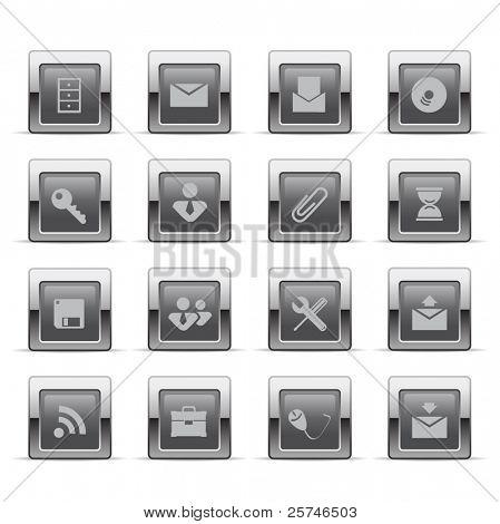 Glossy web icons