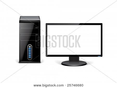 Desktop pc with copy space