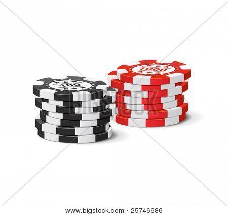 Vector gambling chips