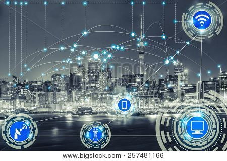 Smart City And Wireless Communication Network.