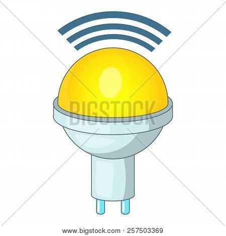 Wireless Led Light Icon. Cartoon Illustration Of Wireless Led Light Icon For Web