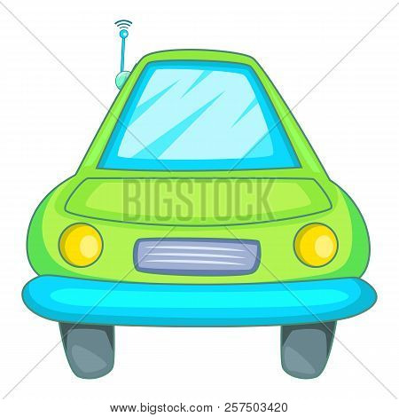 Car With Wifi Sign Icon. Cartoon Illustration Of Car With Wifi Sign I Icon For Web