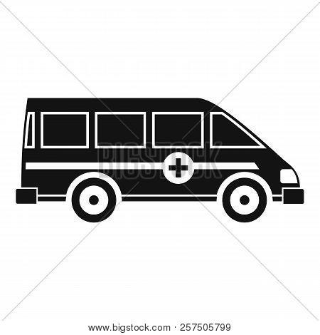 Ambulance Emergency Van Icon. Simple Illustration Of Ambulance Emergency Van Icon For Web