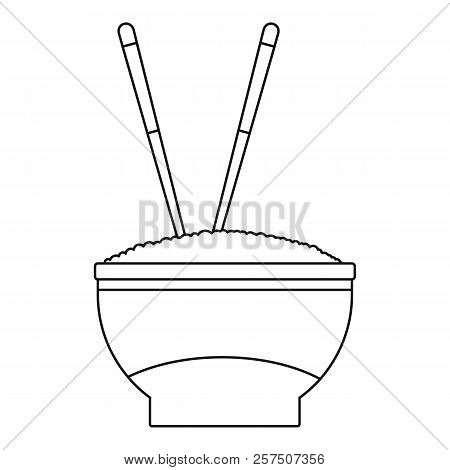 Bowl Of Rice Icon. Outline Illustration Of Bowl Of Rice Icon For Web