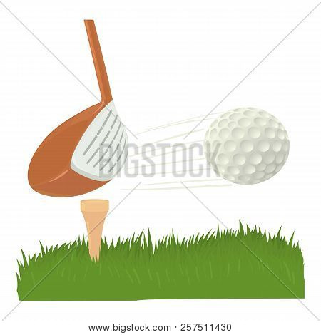 Hit Golf Ball Icon. Cartoon Illustration Of Hit Golf Ball Icon For Web