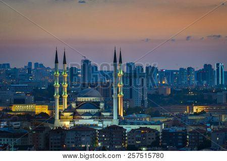 Ankara skyline at sunset - Ankara, Turkey