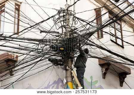 Tangled Electric Cables - La Paz - Bolivia