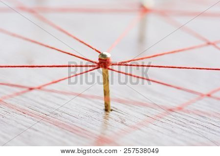 Linking Entities. Network, Networking, Social Media, Internet Communication Abstract. Web Of Wires O