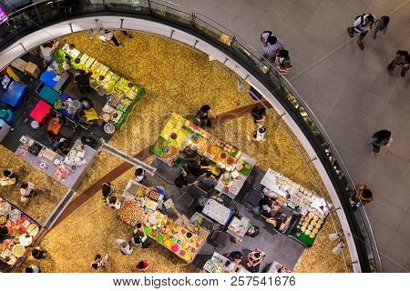 Bangkok, Thailand - August 26: Food Fare For Traditional Local Food And Snacks Takes Place In Termin